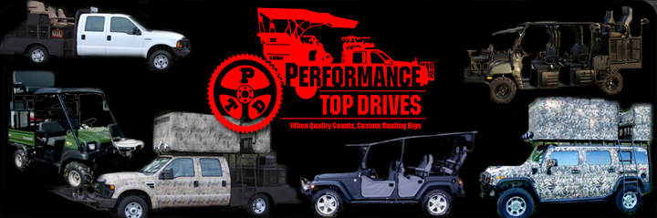 Most Reliable Truck Ever >> Performance Top Drive Hunting Truck Outfitters: 4wd hunting truck repair, quail rigs, deer high ...