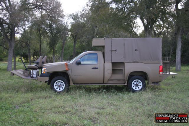 Performance Top Drive Hunting Truck Outfitters: 4wd hunting truck repair, quail rigs, deer high racks, quail hunting racks & quail seats for ATVs